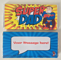 Super Dad Personalised 100g Chocolate Bar