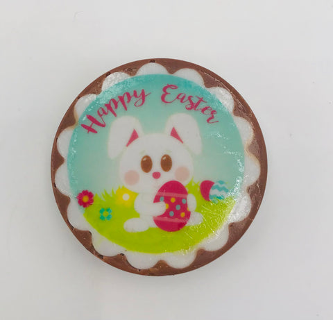 Easter Rabbit Chocolate Coated Oreo with an Edible Design