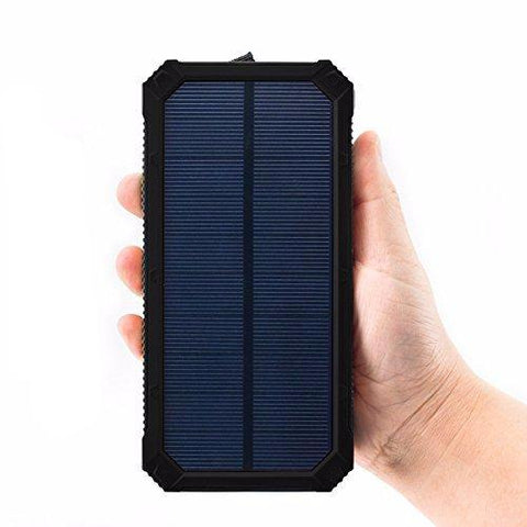 Travel Power Bank - Solar Charge with Dual USB  20000mAh
