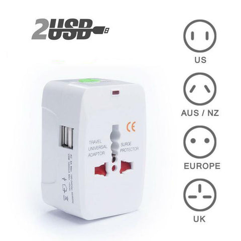 All-in-One Travel Adapter + USB Charging Port