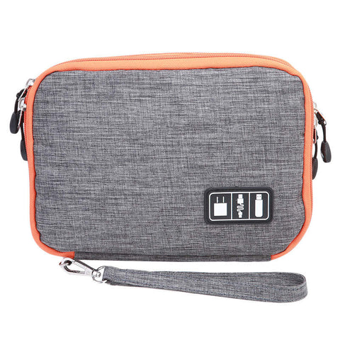 Duel Pocket Travel Electronics Organizer