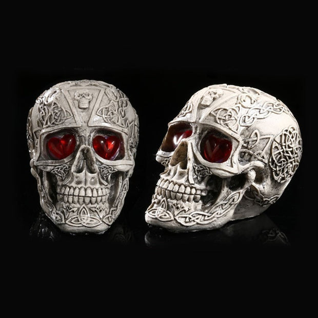 LED Skeleton Head Figurine