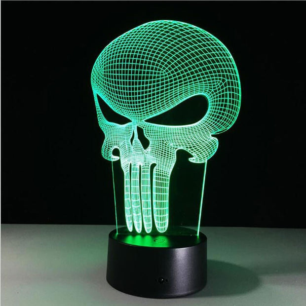 3D LED Color Changing Skull Lamp