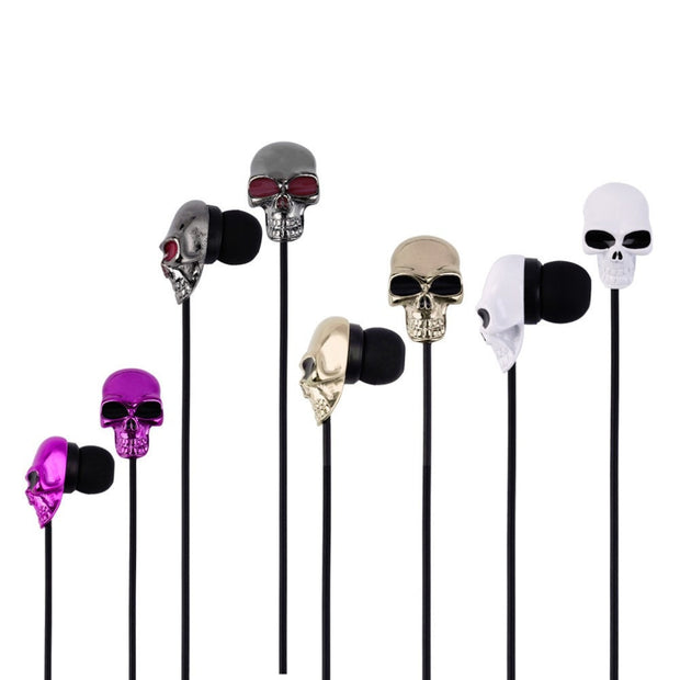 Skull metal headphones