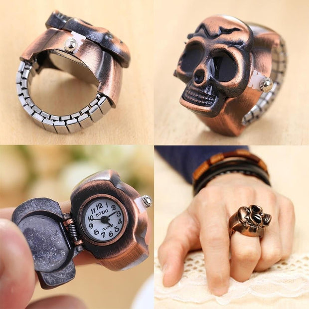 Skull Finger Ring Watch