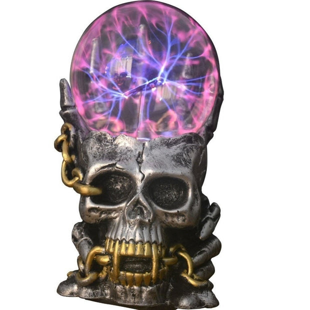 Skull Plasma Light Lamp