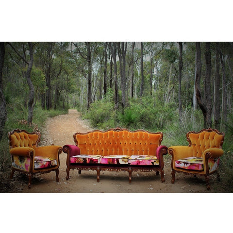 Designs by Velvet & Honey Furniture Victorian Mustard - Single Seater