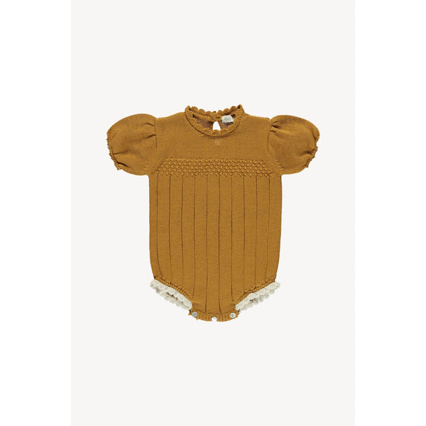 Fin & Vince One Piece Amelia Knit Romper - Toffee