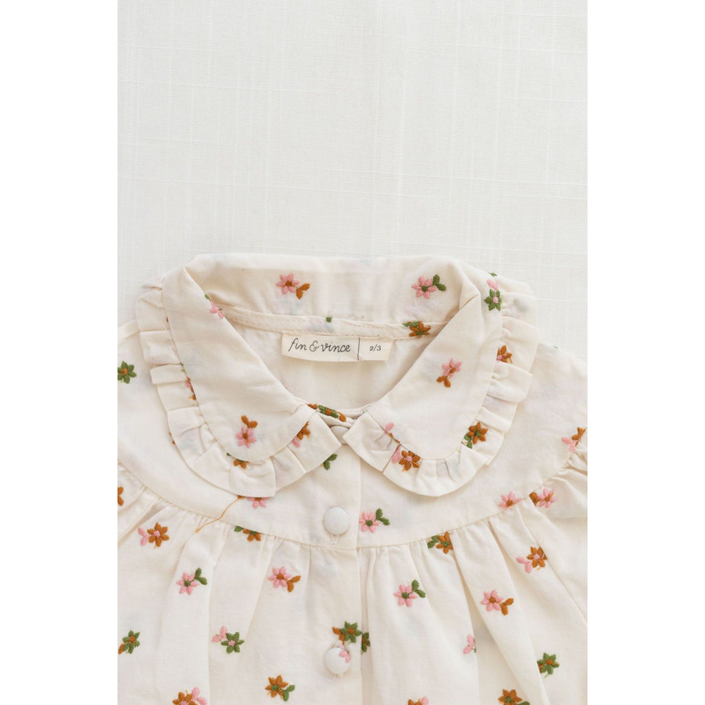 Fin & Vince Tops Eleanor Blouse - Embroidered Floral