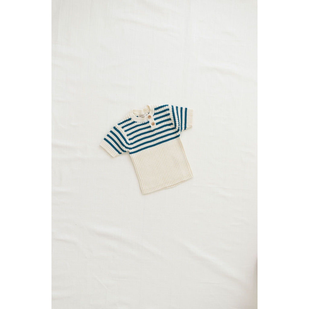 Fin & Vince Tops Heritage Knit Top - Ocean