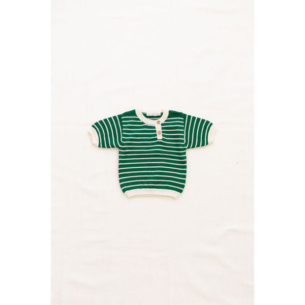 Fin & Vince Tops Zion Knit Top - Emerald