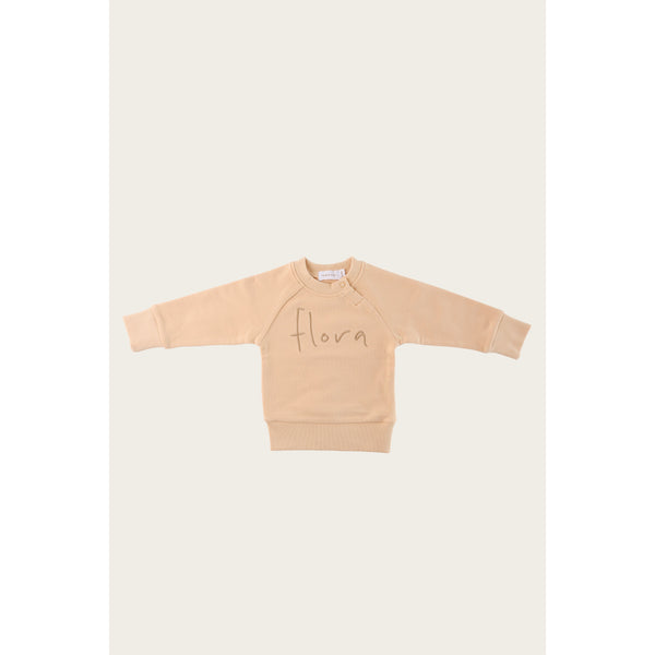 Jamie Kay Tops Jamie Kay - Flora Sweatshirt - Honey Peach *PREORDER*