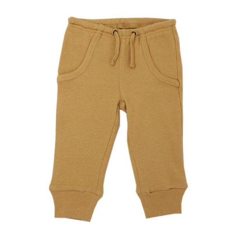 Loved Baby Bottoms 18-24 Months Kids Organic Thermal Waffle Jogger Pants  - Topaz