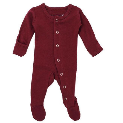 Loved Baby One Piece Lovedbaby - Organic Footed Overall - Cranberry