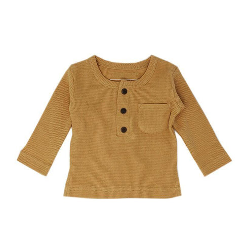 Loved Baby Tops 3-6 Months Baby's Organic Thermal Waffle Top  - Topaz