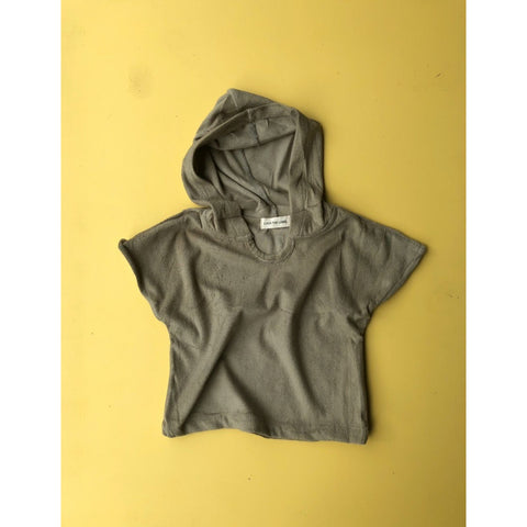 Luca The Label Bottoms Luca the Label - Terry Hooded Shirt in Olive