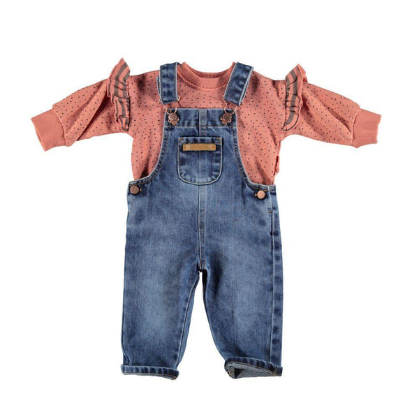 Piupiuchick Bottoms Denim Dungaree Overalls