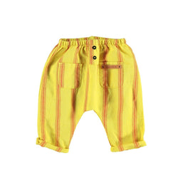 Piupiuchick Dresses 3 Months Trousers Yellow / Red Stripes