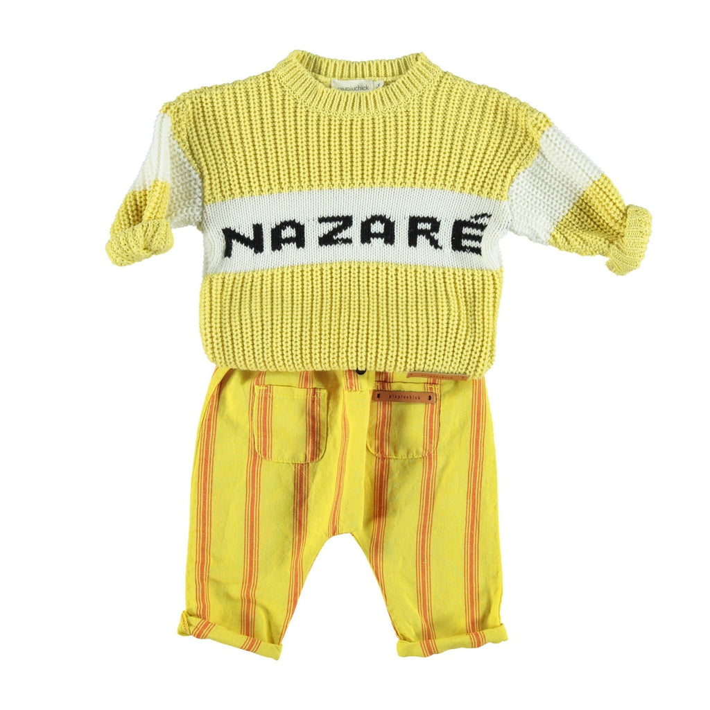 Piupiuchick Tops 3 Months Knitted Sweater - Yellow 'Nazare'