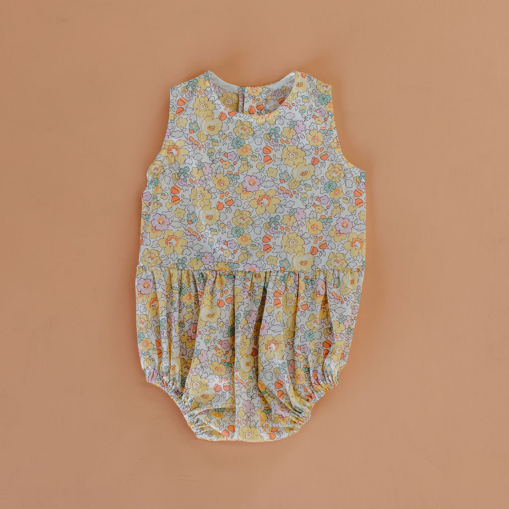 Velvet & Honey One Piece Classic Collection - Liberty Romper - Yellow