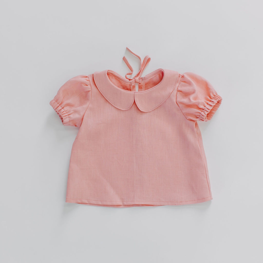 Velvet & Honey Tops Classic Collection - Linen Blouse - Rose Pink
