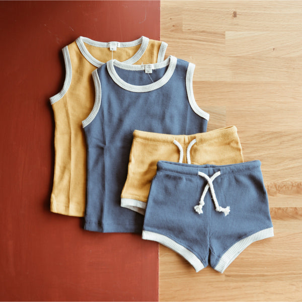 Velvet & Honey Tops Gold Hearts Collection - Singlet