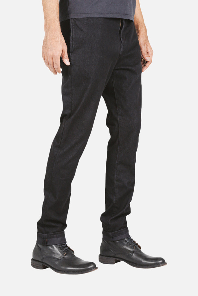Kato Axe Slim French Terry Chino, Black