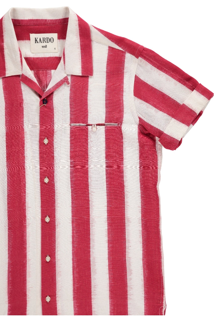 Kardo Kendrick Stripe Shirt, Red