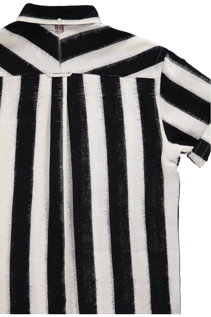 Kardo Don Stripe Shirt, Black/White
