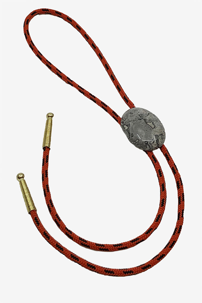 Alter Rope Bolo Tie 7, Red/Gold