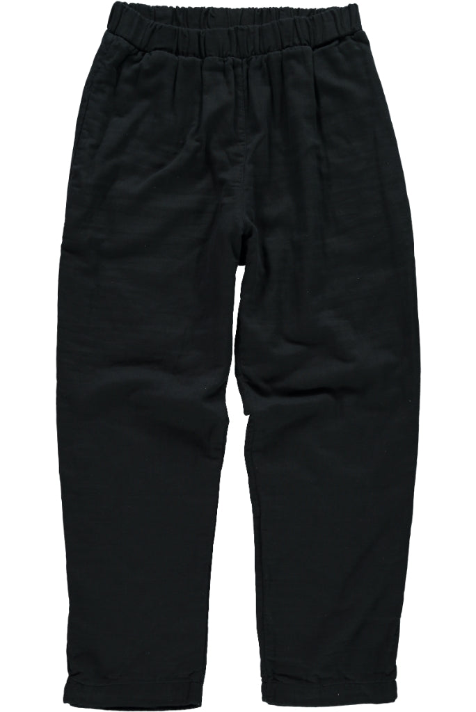 Organic Gauze Cotton Mens Pants, Black