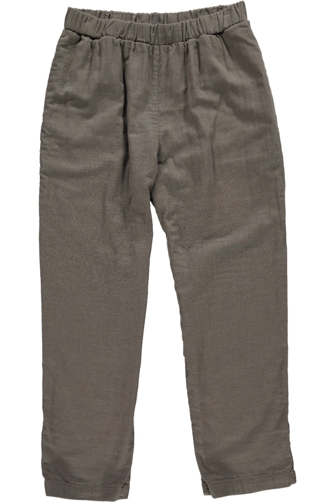 Organic Gauze Cotton Mens Pants, Olive