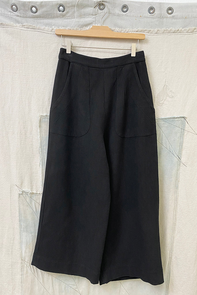 Toit Volant Cropped Wide Pant, Galaxy Black