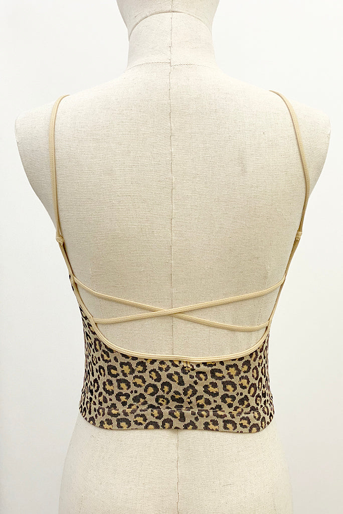 LOW BACK LEOPARD CAMI TOP