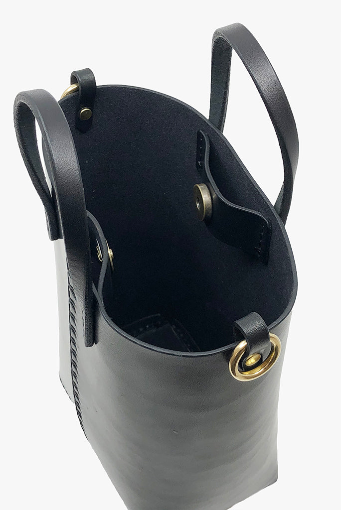 Louise Goods Palmetto Bucket Bag, Black