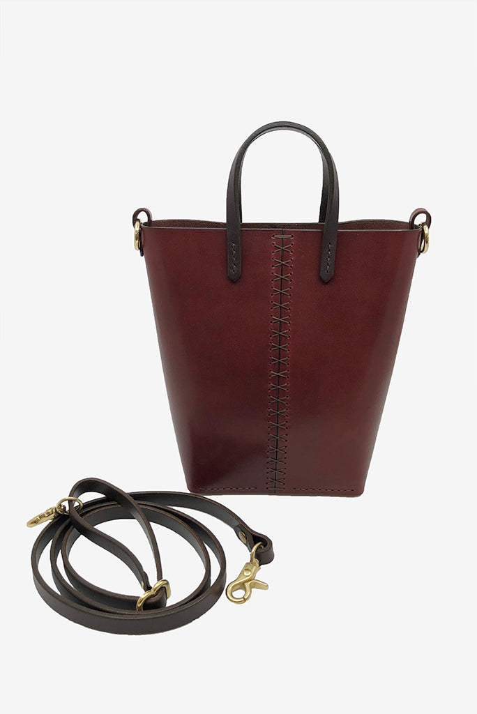 Louise Goods Palmetto Bucket Bag, OxBlood