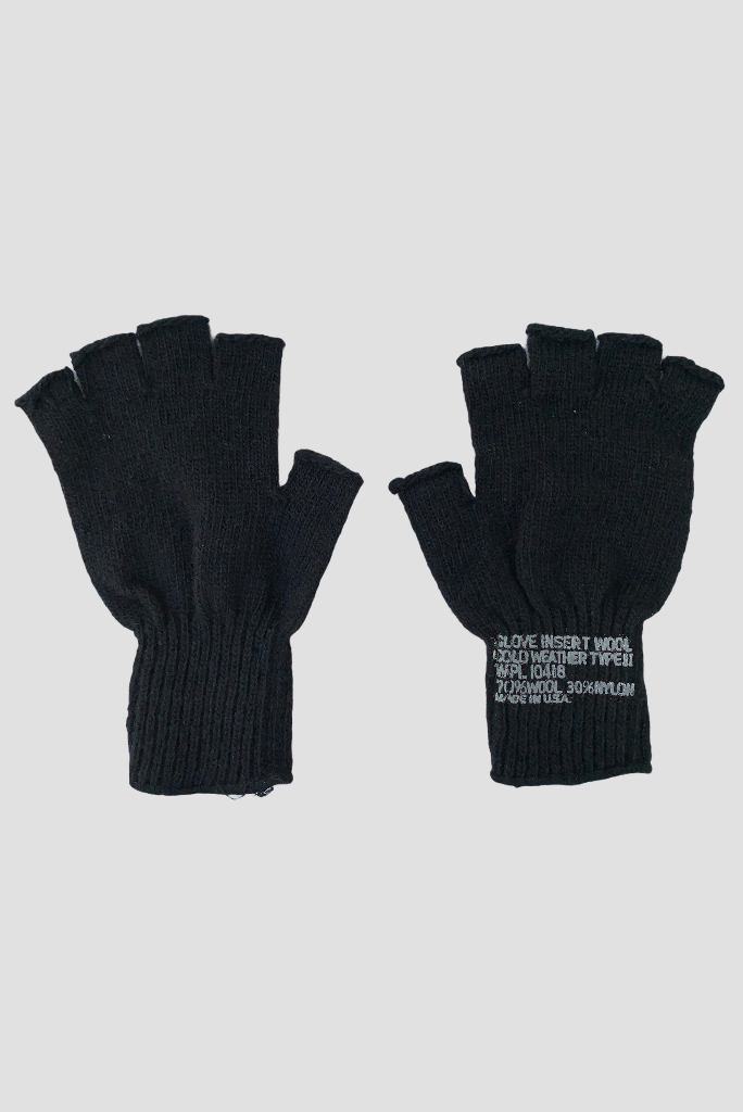 MILITARY FINGERLESS GLOVES WOOL, 2 COLORS