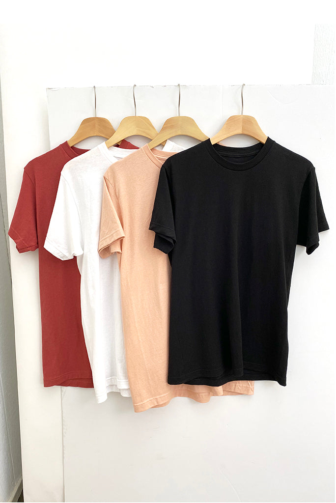 Basic Fine Jersey Tee Shirts, 5 COLORS