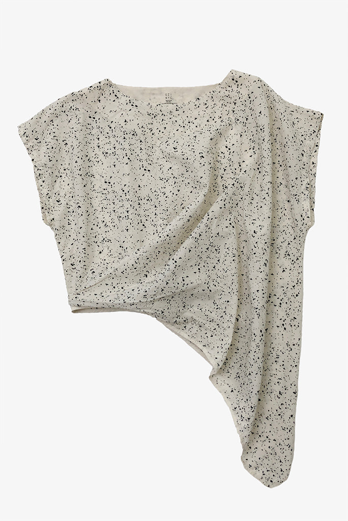 A/Wave Tunic Top, Cream/Splat