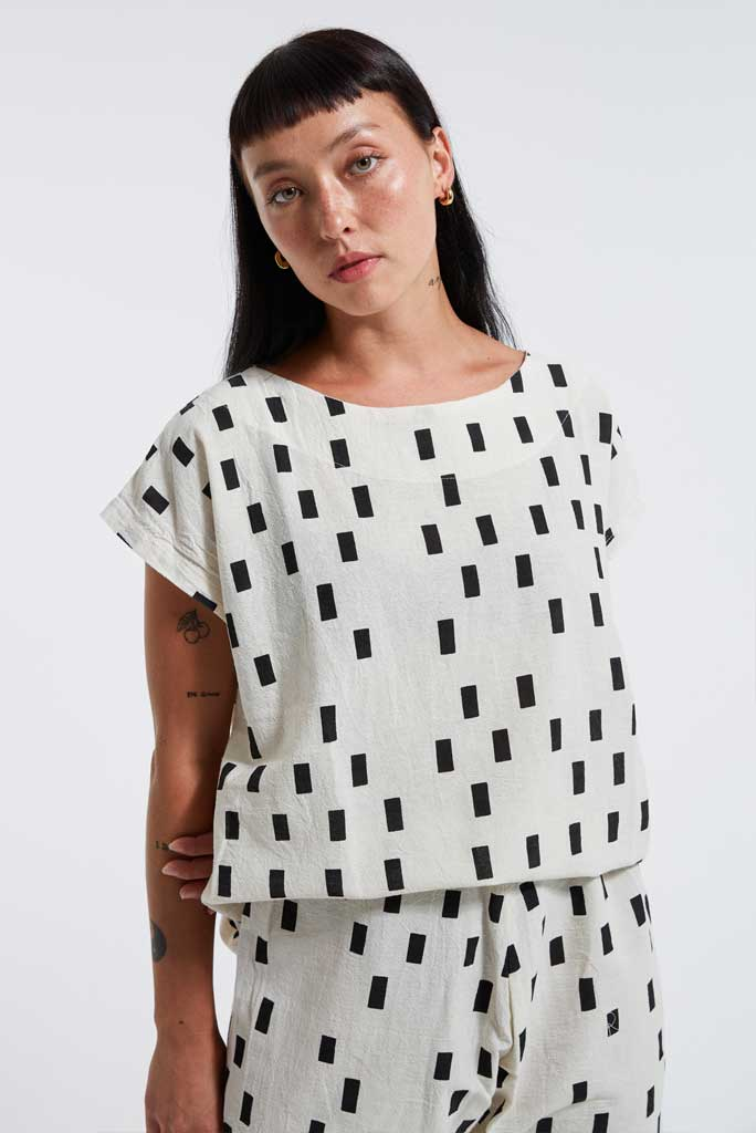 UZI Tunic Top, Disko/Cream