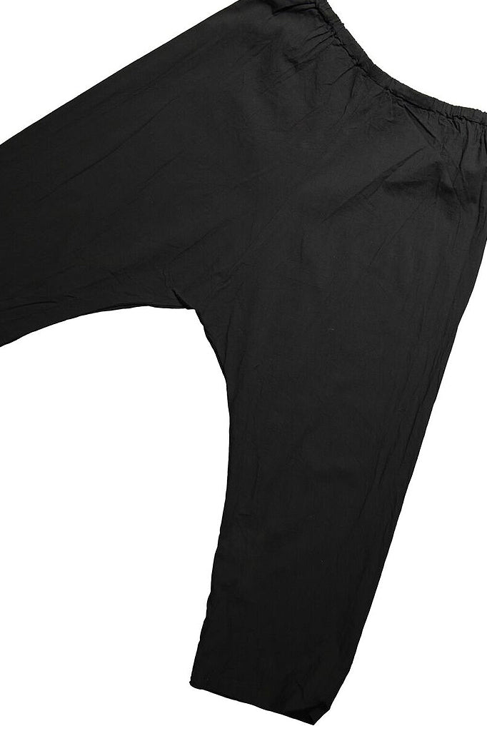 UZI Drop Crotch Pant, Black