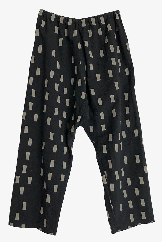 UZI Drop Crotch Pant, Disko/Black