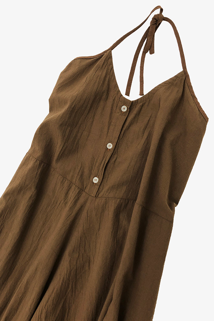UZI Halter Jumpsuit, Brown