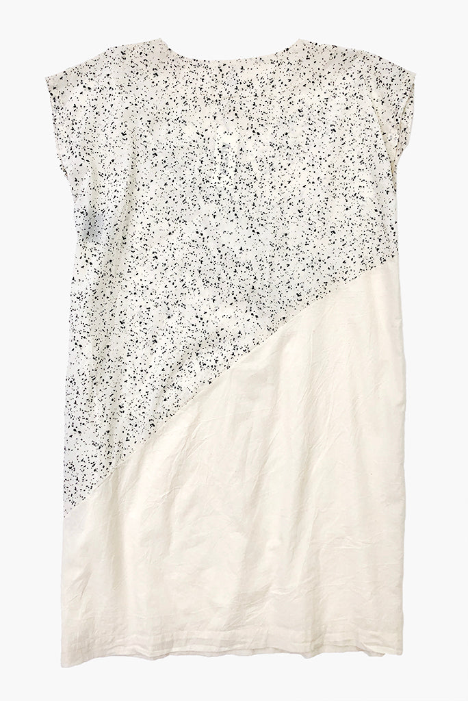 UZI Wave Dress, Splatter/Cream