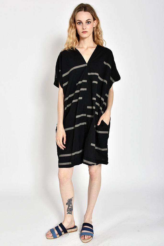 UZI V Dress, Broken Line/Black