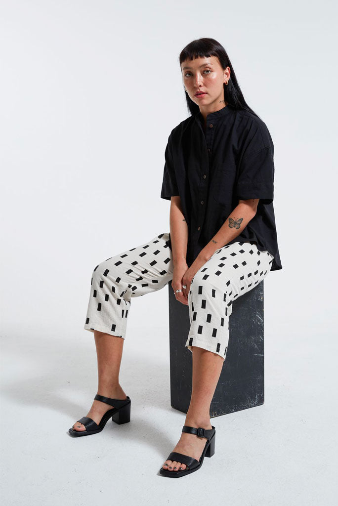 UZI Drop Crotch Pant, Disko/Cream