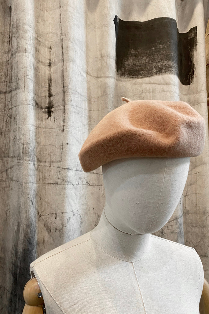 FRENCH BERET, CAMEL