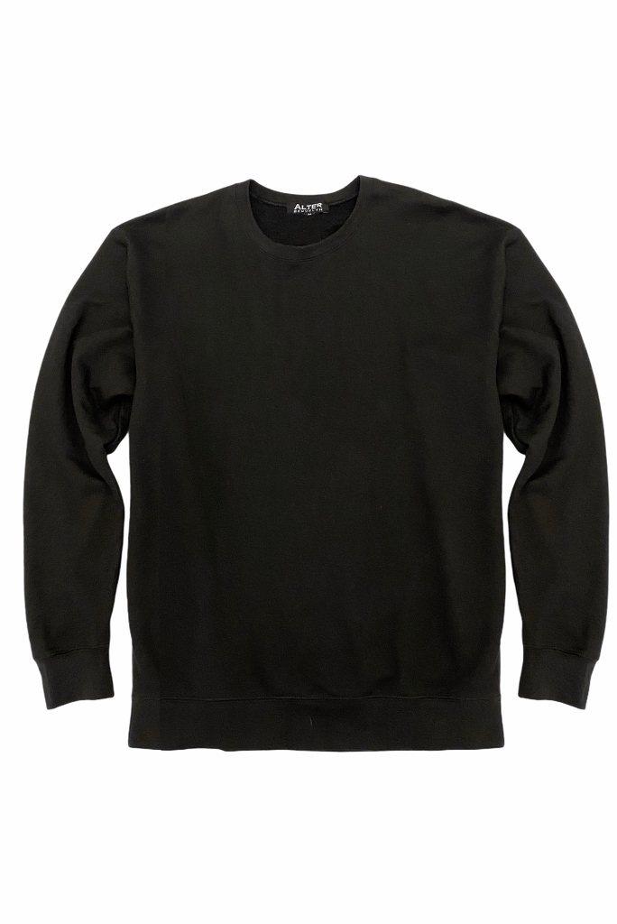 Shop our oversized black crew neck sweatshirt with a super soft fleece cotton blend. This is one cozy sweatshirt for anyone.