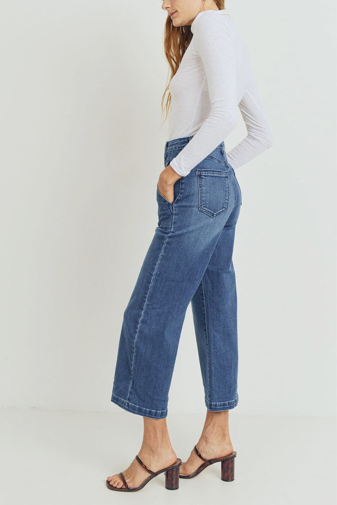 Wide Leg Pocket Denim