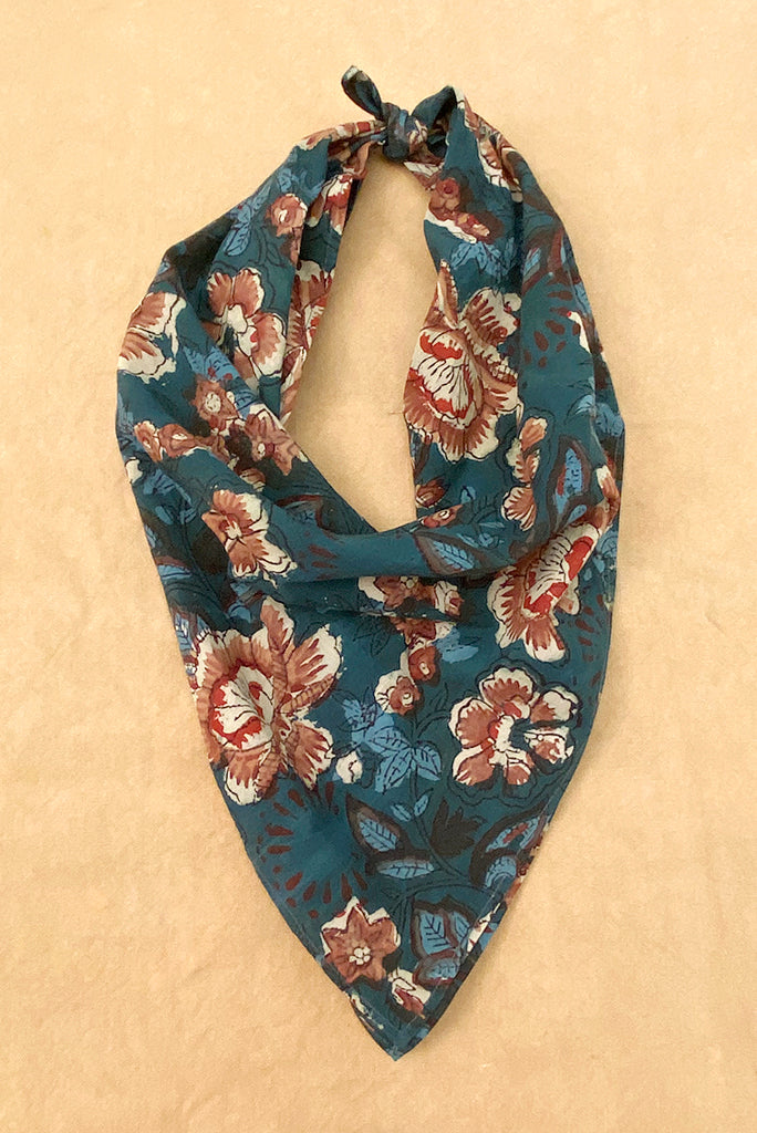 Kardo Block Printed Bandana, 6 Colors
